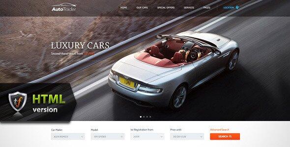 7 great car responsive html5 templates design freebies