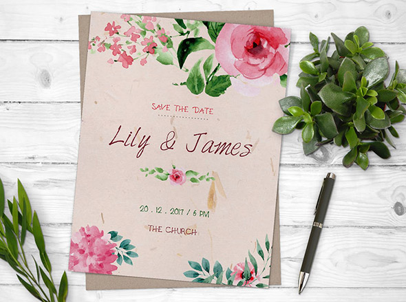 Great Wedding Flyer Templates Design Freebies - Save the date flyer template