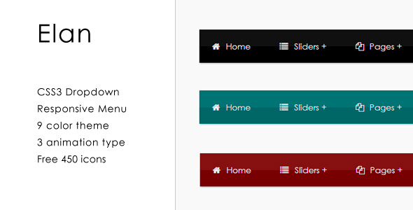 elan css3 responsive dropdown menu