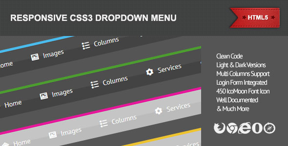 responsive css3 dropdown menu