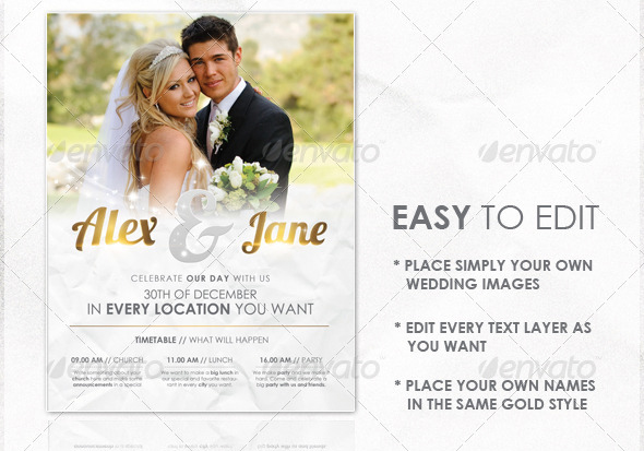 15 Great Wedding Flyer Templates – Design Freebies