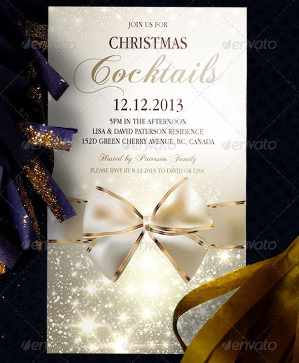17 Great Christmas Party Invitation Card Eps Ai Psd Design