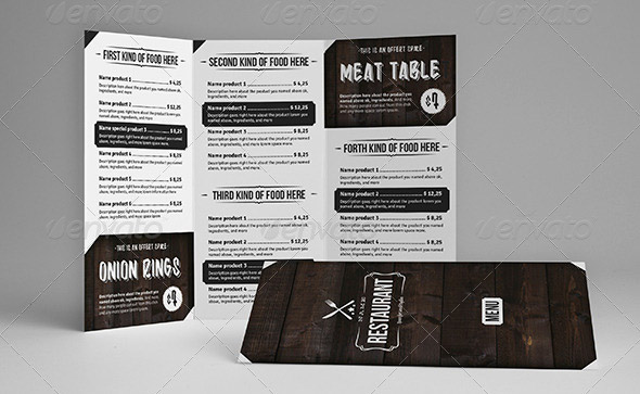 17 useful vintage restaurant menu templates psd indesign design freebies. Black Bedroom Furniture Sets. Home Design Ideas