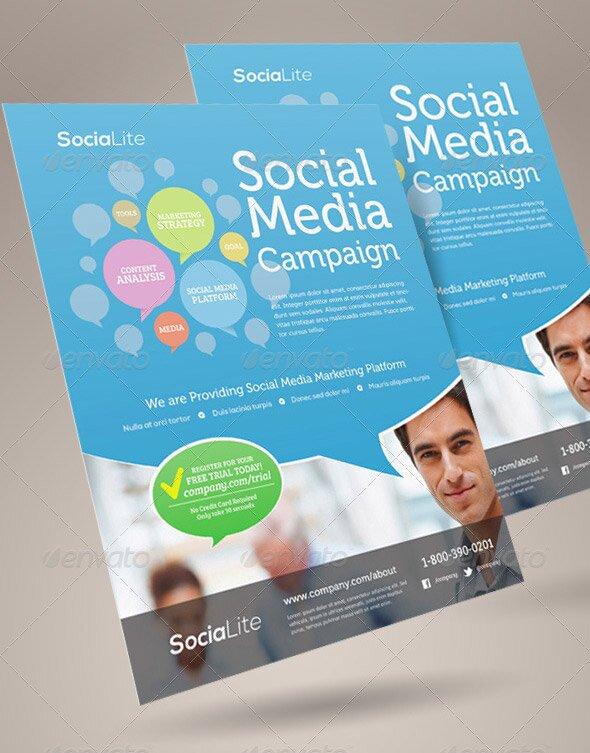 Social Media Flyer Template from freebiesdesign.com