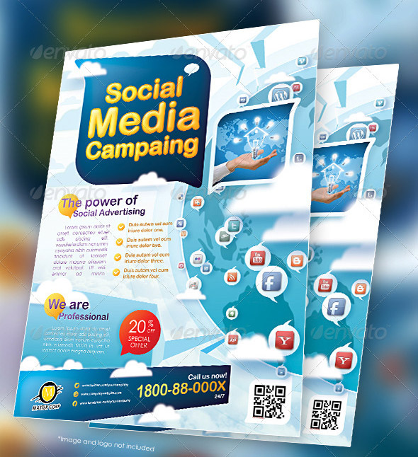 14 great social media flyer templates  psd  u0026 indesign   u2013 design freebies