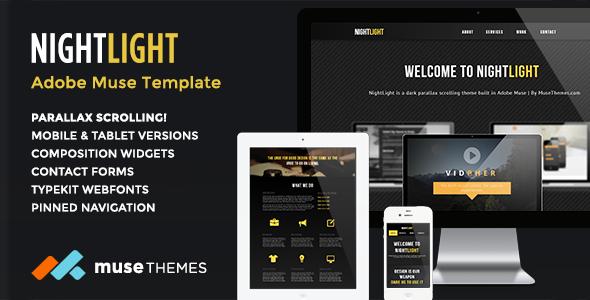 23 beautiful free premium adobe muse templates design freebies nightlight parallax muse template maxwellsz