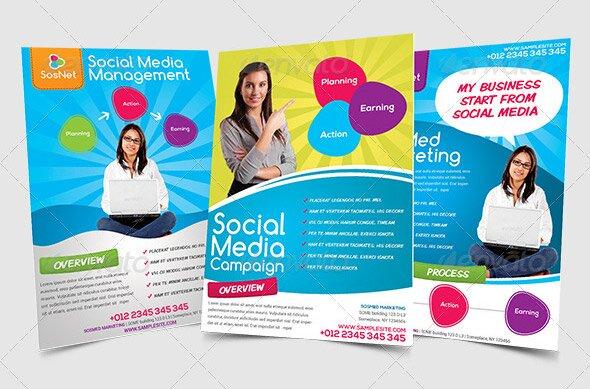 14 great social media flyer templates  psd  u0026 indesign