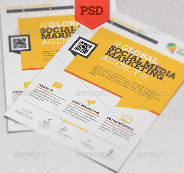 Marketing Flyer. Digital Marketing Flyer Template - Flyers Digital ...