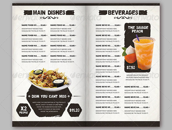 17 Useful Vintage Restaurant Menu Templates PSD InDesign – Food Menu Template