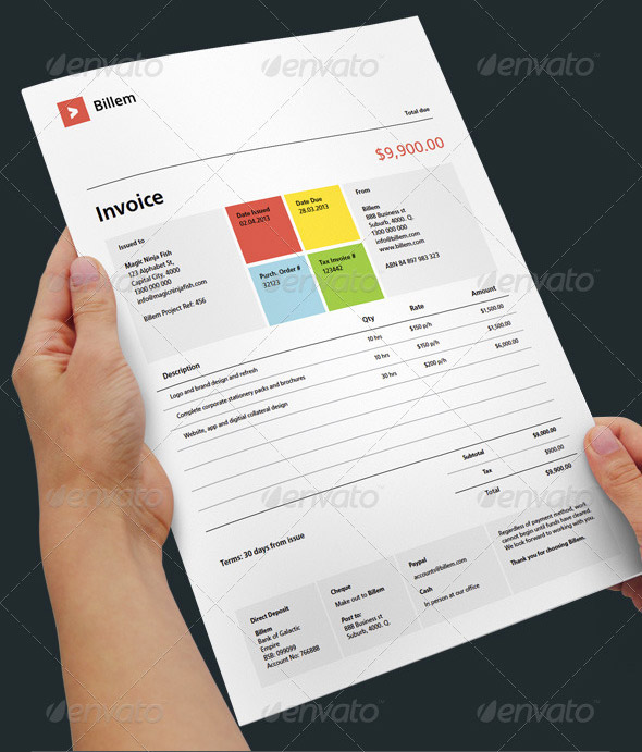 Web Design Invoice Samples