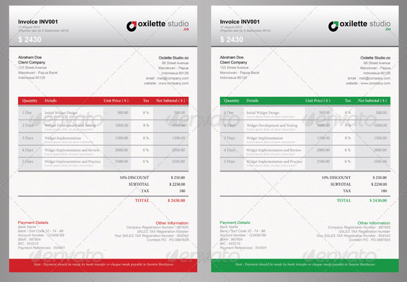 21 useful invoice indesign templates  u2013 design freebies