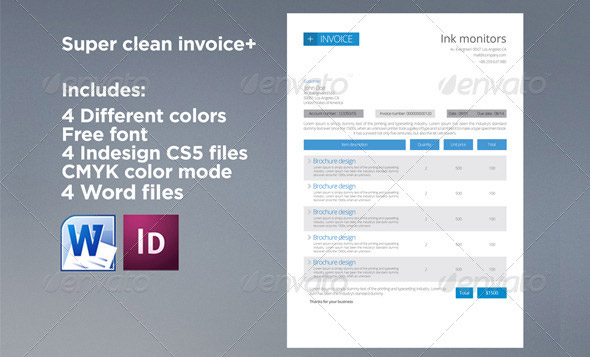 Download Factuur Template Indesign – Indesign Invoice Template