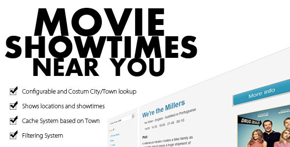 Movie theater showtimes and listing