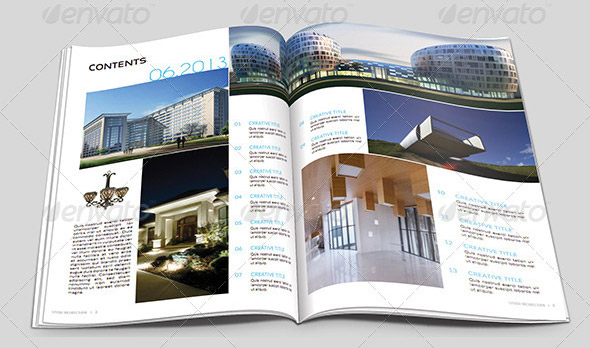 10 beautiful indesign templates for architecture magazine. Black Bedroom Furniture Sets. Home Design Ideas