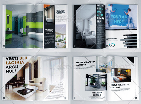 10 beautiful indesign templates for architecture magazine for Interior design mag