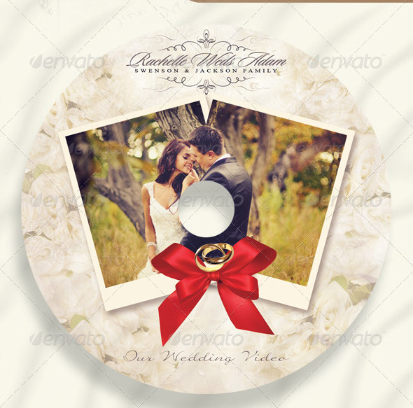 Bright Colorful Wedding Inspiration: 15 Beautiful Wedding CD/DVD Cover Templates