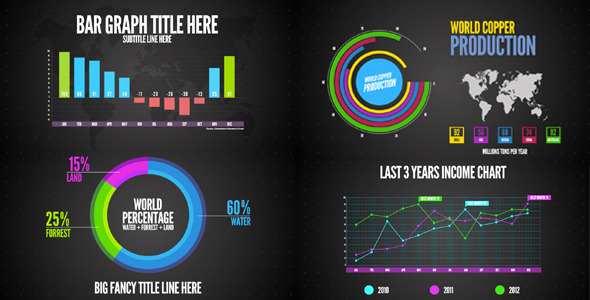 17 great after effects templates for infographics design for After effect motion graphics templates