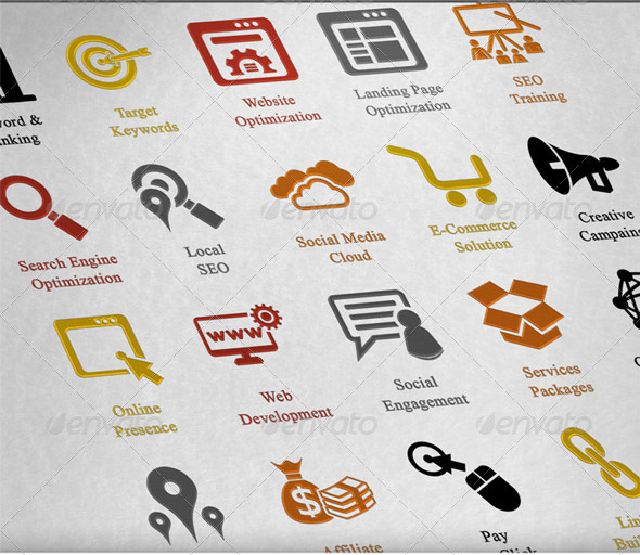 Seo Services Icons Seo Services Icons Pack