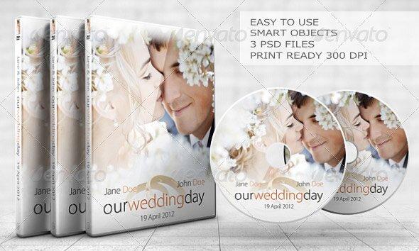 Sleek Wedding DVD Cover Set