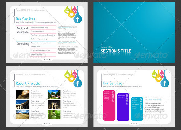 18 creative social media powerpoint presentation templates, Modern powerpoint