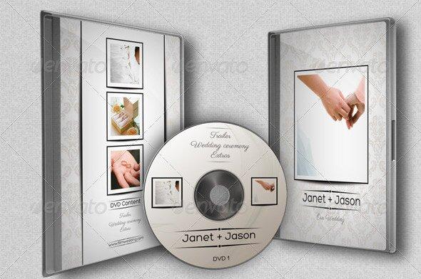 pochette dvd mariage psd