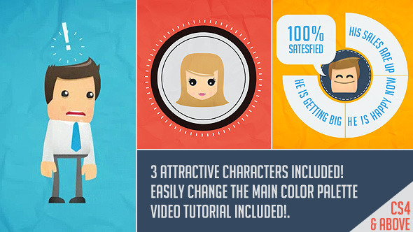 Good Character Design Apps : Great character promo opener after effects templates