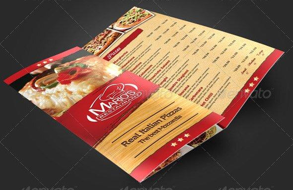 14 great tri fold restaurant menu psd templates design freebies trifold pizzeria menu template pronofoot35fo Choice Image