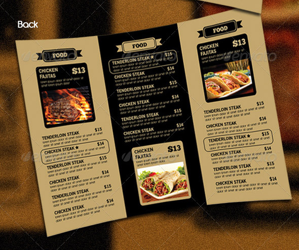 tri fold restaurant menu templates koni polycode co