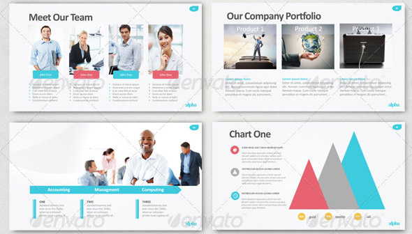 10 great portfolio powerpoint presentation templates – design freebies, Presentation templates