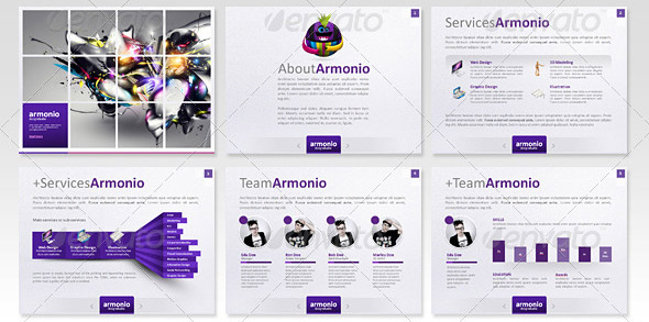 10 great portfolio powerpoint presentation templates design freebies