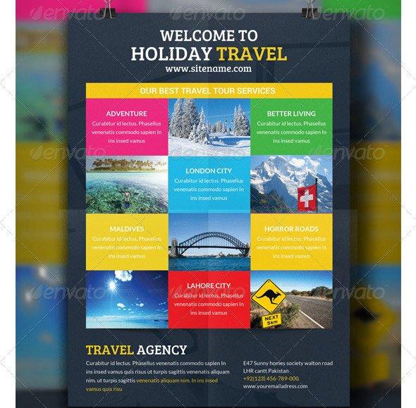 Travel Flyer Template Idealstalist
