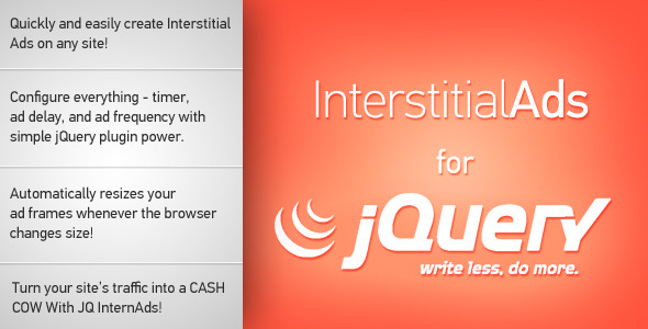 Interstitial Ads for jQuery