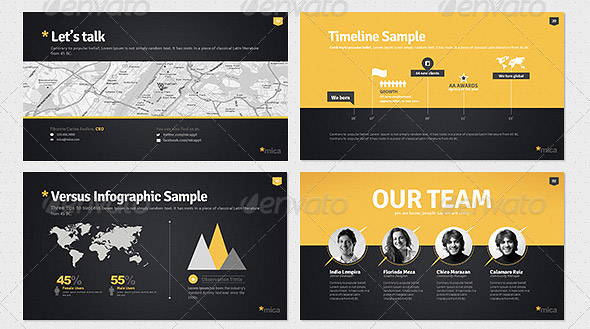 10 great portfolio powerpoint presentation templates design freebies