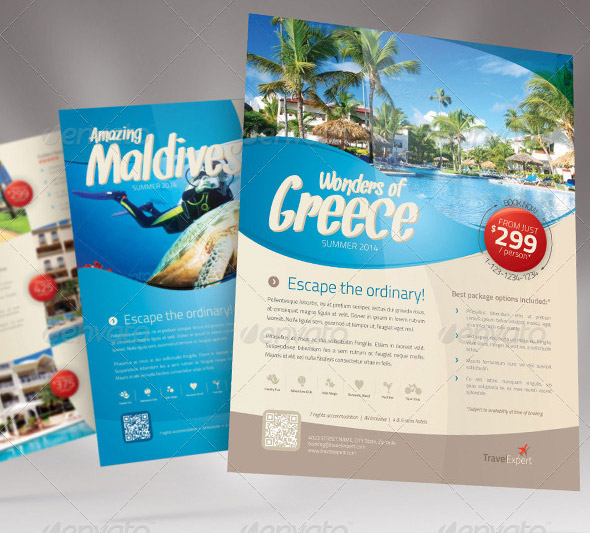 14 Beautiful Travel Flyer Templates – Design Freebies