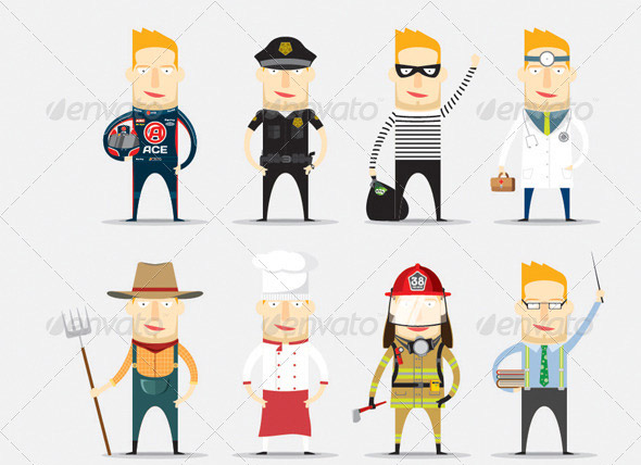 12 great human characters vectors eps design freebies for Character designer job