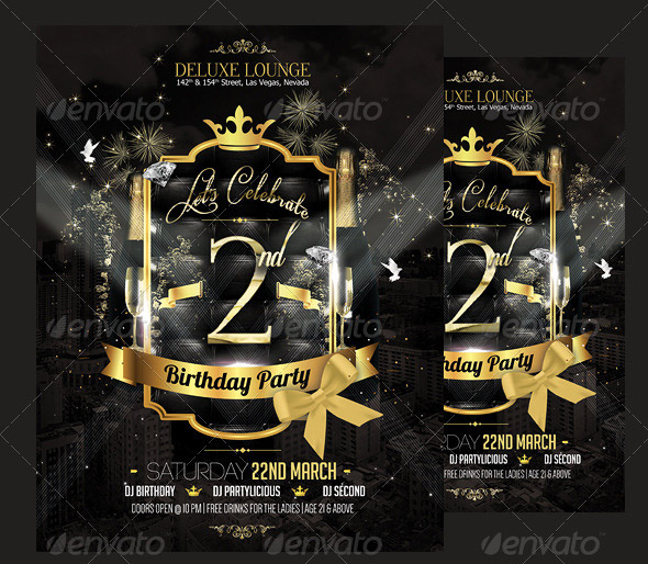 13 great birthday flyer templates design freebies birthday party flyer pronofoot35fo Choice Image