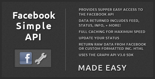 Facebook Simple API