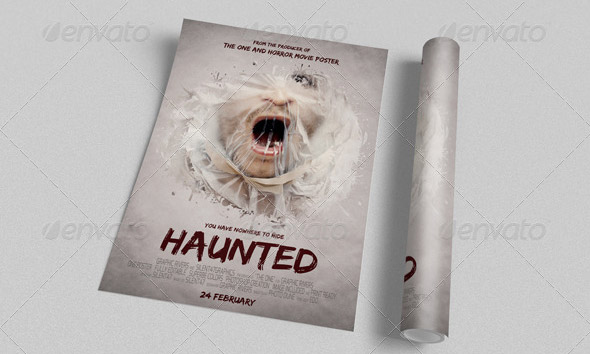 Haunted-Movie-Poster-Template