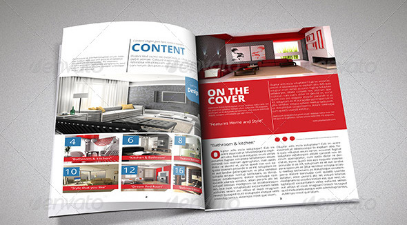 9 great real estate magazine indesign templates design for Indesign interior