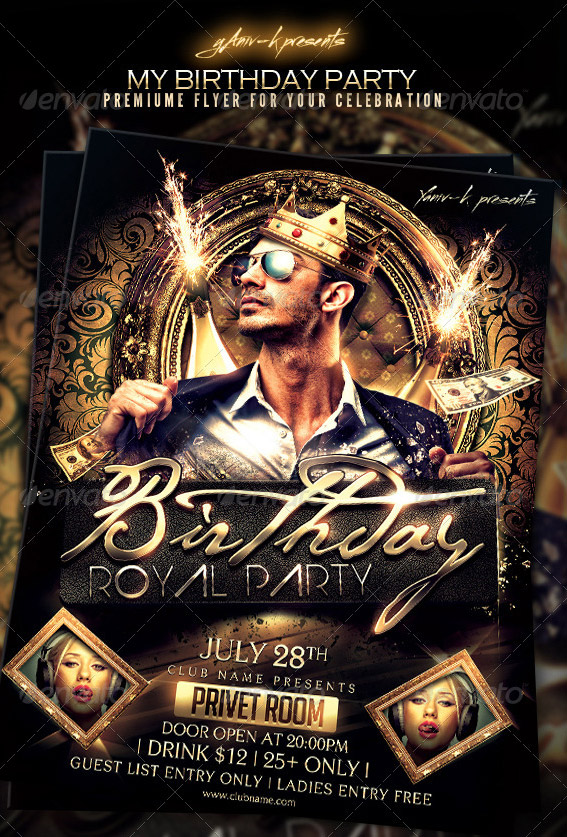 Great Birthday Flyer Templates  Design Freebies