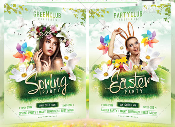 Great Spring Break Party Flyer Templates  Design Freebies