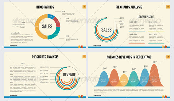 14 great powerpoint templates for annual report – design freebies, Presentation templates