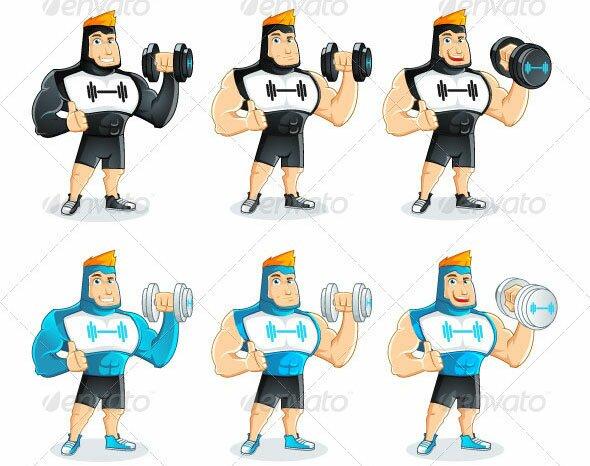Fitness-Guy-Mascot