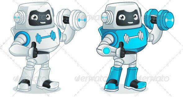Fitness-Robot-Mascot