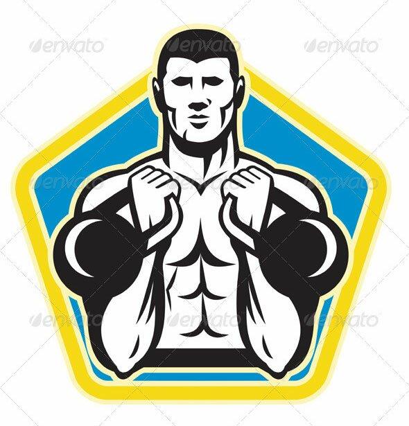 Kettlebell-Exercise-Weight-Training-Retro