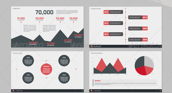 14 great powerpoint templates for annual report – design freebies, Modern powerpoint
