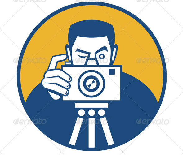 Photographer-With-Camera-Retro