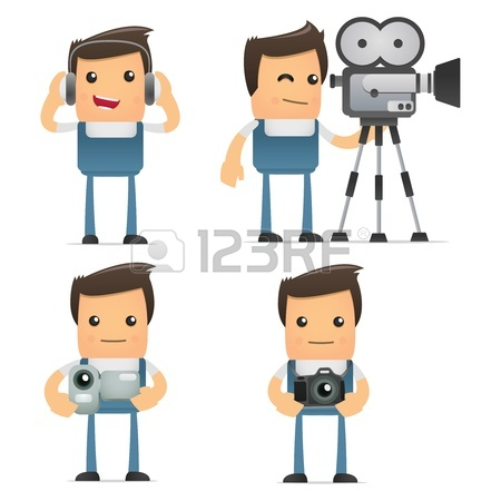 Vector set of funny cartoon mechanic
