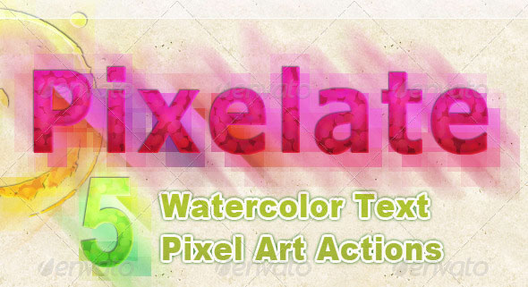 Watercolor-Text-Pixelate-Effect