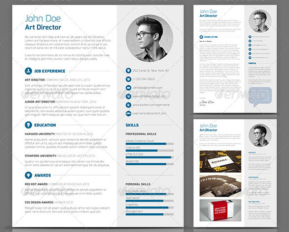 Free Creative Resume Template In Psd Format. Indesign Resume